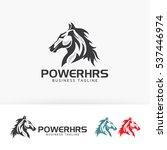 power horse  animal  wild ... | Shutterstock .eps vector #537446974