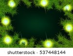 christmas background with fir... | Shutterstock . vector #537448144