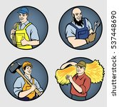 a set of men's professions .... | Shutterstock .eps vector #537448690