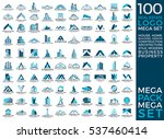 mega set and big group  real... | Shutterstock .eps vector #537460414