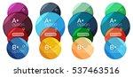 set of round option diagram... | Shutterstock .eps vector #537463516