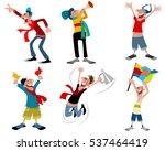 vector illustration of a six... | Shutterstock .eps vector #537464419