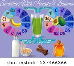 smoothie with avocado and... | Shutterstock .eps vector #537466366