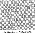 vector hand drawn checkered... | Shutterstock .eps vector #537466858
