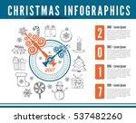 christmas clock. vector... | Shutterstock .eps vector #537482260