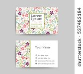 floral business name card... | Shutterstock .eps vector #537483184