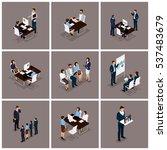 business people isometric set... | Shutterstock .eps vector #537483679