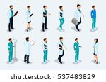 set of isometric medical... | Shutterstock .eps vector #537483829