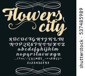 font handwritten  vector... | Shutterstock .eps vector #537485989