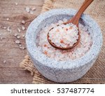 Himalayan Pink Salt In Mortar...