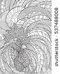 vector rooster in zentangle...   Shutterstock .eps vector #537488008