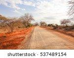african savannah in kenya.... | Shutterstock . vector #537489154