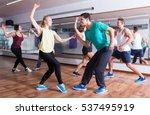 dancing happy couples learning... | Shutterstock . vector #537495919