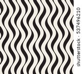 Vector Seamless Black and White Hand Drawn Vertical Wavy Lines Pattern | Shutterstock vector #537496210