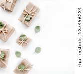 christmas toys and craft boxes... | Shutterstock . vector #537496234