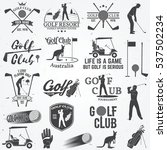 set of golf club concept with... | Shutterstock .eps vector #537502234