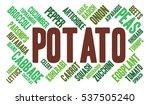 potato. word cloud  green font  ... | Shutterstock .eps vector #537505240