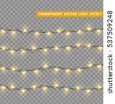 garlands decorations  heart... | Shutterstock .eps vector #537509248