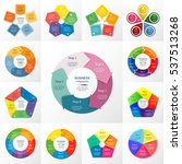 vector circle infographic set.... | Shutterstock .eps vector #537513268