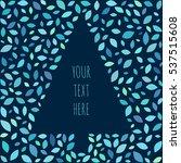 vector card of christmas tree.... | Shutterstock .eps vector #537515608