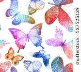 seamless pattern with colorful... | Shutterstock .eps vector #537525139