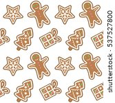 gingerbread pattern man...   Shutterstock .eps vector #537527800