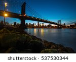 Manhattan Skyline And Manhatta...