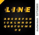 express service font. fast... | Shutterstock .eps vector #537530800