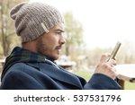 handsome hipster modern man... | Shutterstock . vector #537531796