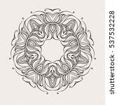 mehndi lace tattoo. art nouveau ... | Shutterstock . vector #537532228