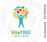 healthy lifestyle logo. human... | Shutterstock .eps vector #537532324