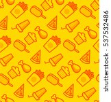 pattern with junk food. yellow... | Shutterstock .eps vector #537532486