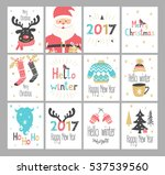 set of new year and christmas... | Shutterstock .eps vector #537539560
