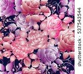 floral seamless pattern. 3d... | Shutterstock .eps vector #537543544