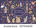 vector big collection of hand... | Shutterstock .eps vector #537544630