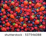 Berries Overhead Closeup...