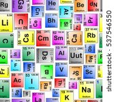 colored periodic table elements ...   Shutterstock .eps vector #537546550