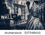new york city collage including ... | Shutterstock . vector #537548410