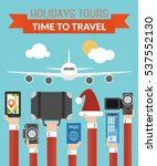 holidays tours  time totravel... | Shutterstock .eps vector #537552130
