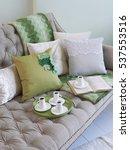 modern luxury sofa and coffee   Shutterstock . vector #537553516
