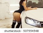 girl with huge ass is about a...   Shutterstock . vector #537554548