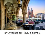 st mary's basilica and main... | Shutterstock . vector #537555958