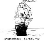 black and white sketch of... | Shutterstock .eps vector #537560749