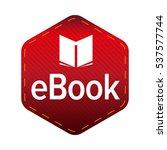 ebook icon sign vector | Shutterstock .eps vector #537577744