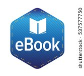 ebook icon sign vector | Shutterstock .eps vector #537577750