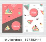 abstract geometric background.... | Shutterstock .eps vector #537583444