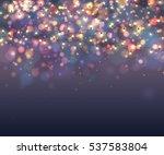 fairy lights for festive... | Shutterstock .eps vector #537583804