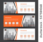 orange banner template vector ... | Shutterstock .eps vector #537584068