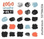 set of 21 unique ink sketched... | Shutterstock .eps vector #537586336
