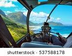 helicopter cockpit flies in... | Shutterstock . vector #537588178